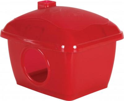 Maison hamster en plastique rouge ou verte