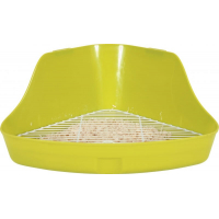 Maison de toilette d'angle pour rongeur verte (1)
