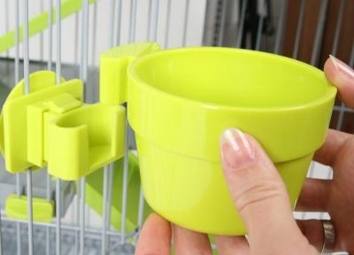 Mangeoire plastique avec fixation vert