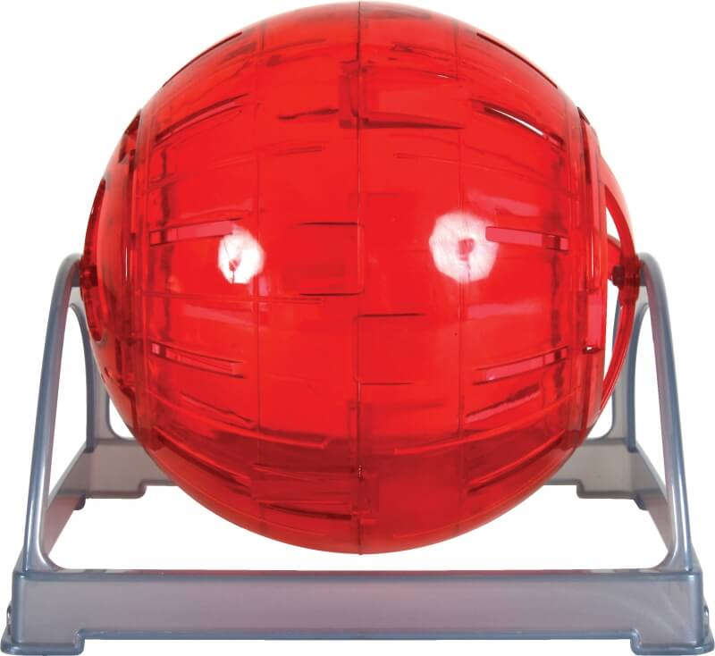 Boule exercice rongeur 2 en 1 rouge