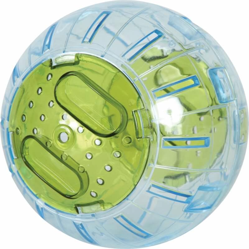 Boule exercice rongeur 12,5cm rouge ou verte