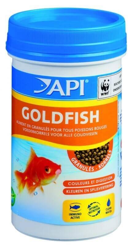 Api granul s pour poissons rouges nourriture en granul s for Goldfish nourriture