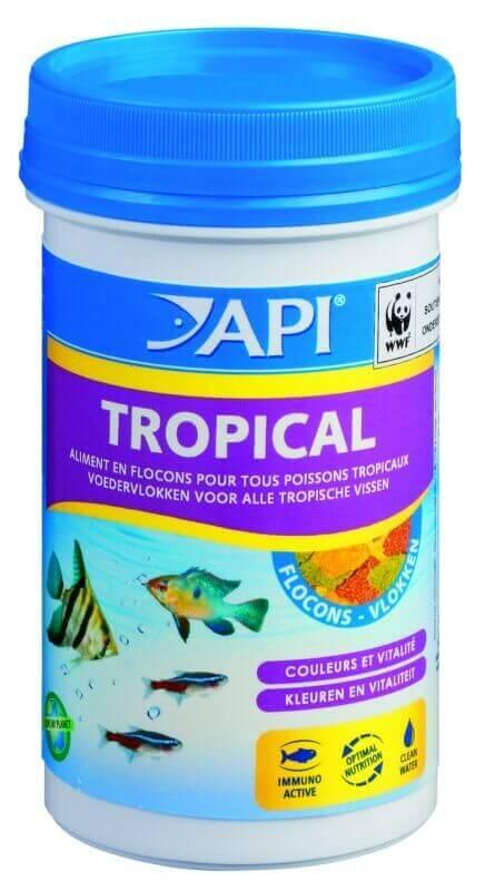 Api flocons pour poissons tropicaux nourriture en flocons for Flocon poisson
