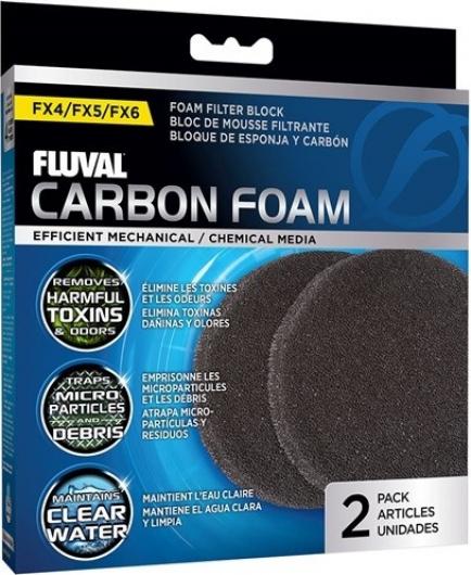 Fluval Mousse charbon pour filtre FX4, FX5 et FX6