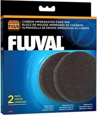 Mousse charbon Fluval pour filtre FX5 et FX6