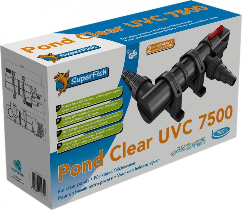 Stérilisateur UV-C pour bassin SuperFish PondClear UVC