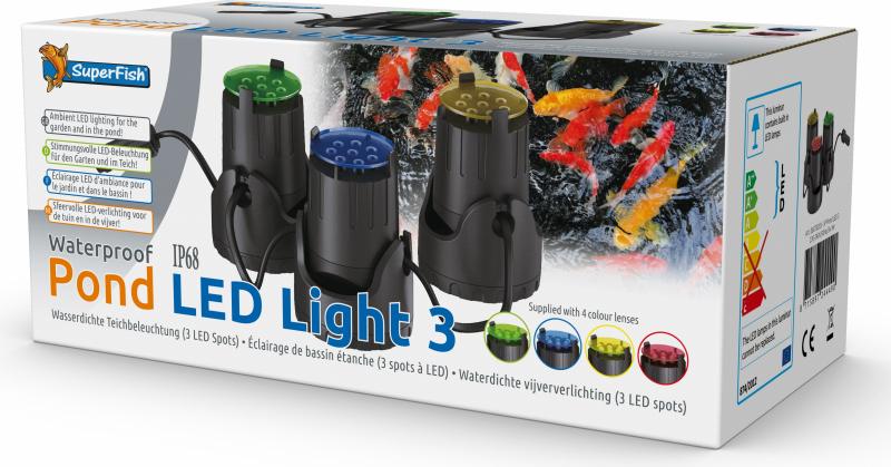 Accesorios para estanques Iluminación LED 3X