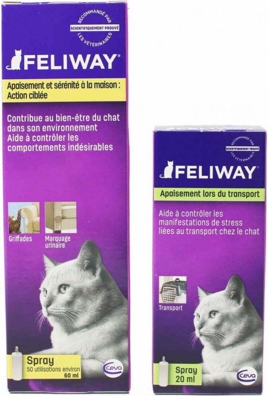 Feliway Classic Spray 20ml et 60ml - idéal transport
