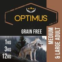 OPTIMUS Adult Sans céréales pour Chien de Moyenne et Grande taille