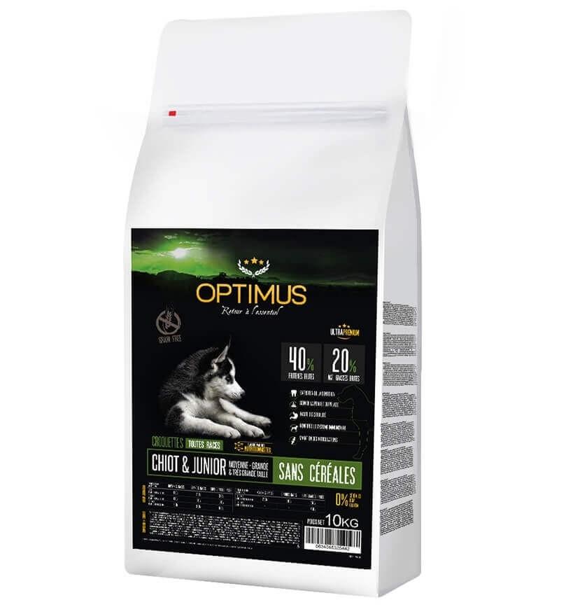OPTIMUS Sin  Cereales CACHORRO & JUNIOR  para perros de tamaño mediano y grande_8