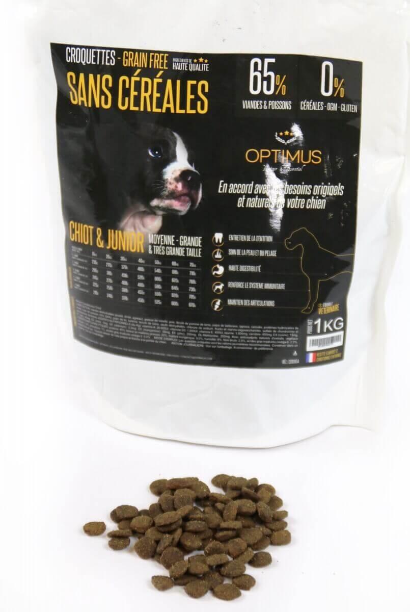 OPTIMUS Sin  Cereales CACHORRO & JUNIOR  para perros de tamaño mediano y grande_6