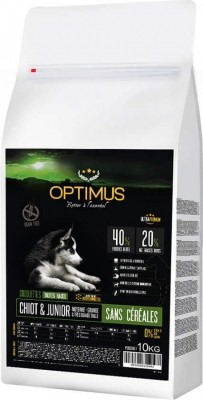 OPTIMUS Chiot & Junior Sans Céréales Moyenne et grande taille