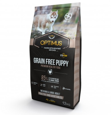 OPTIMUS Puppy Grain Free pour Chiot de Moyenne et Grande taille