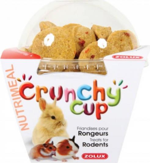 Friandise rongeur Crunchy Cup Nature et Carotte 200G