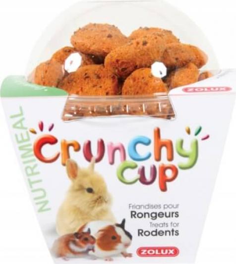 Friandise rongeur Crunchy Cup Carotte et Lin 200G