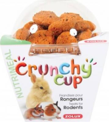Golosinas roedores Crunchy Cup Zanahorias y Lino 200 G