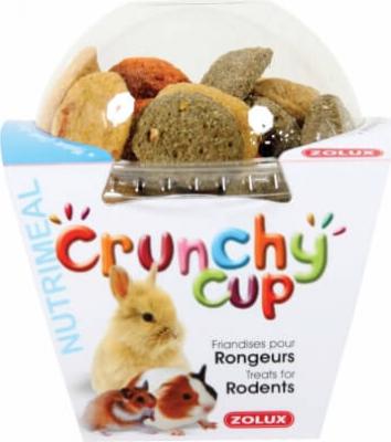 Golosinas para roedores  Crunchy Cup Nature-Zanahoria - Alfalfa 200G