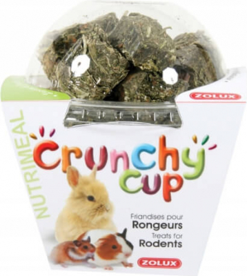 Friandise rongeur Crunchy Cup Luzerne et Carotte 200G