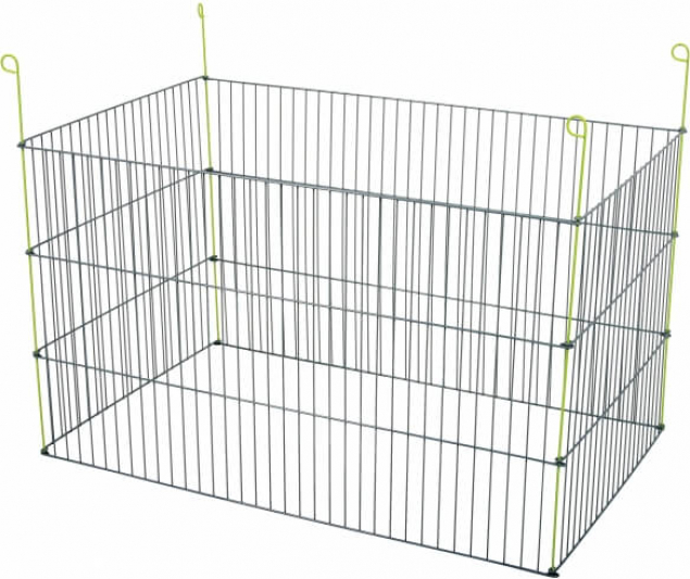 Enclos métal extérieur rectangulaire pour rongeur 1m