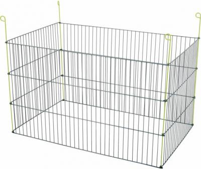 Recinto de metal rectangular de exterior para roedores, 1 mm