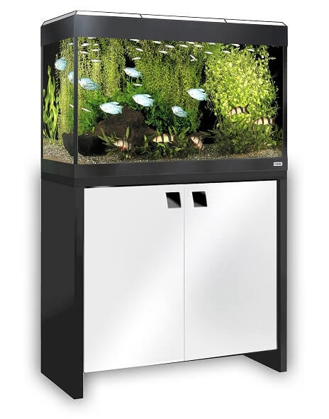 aquarium roma 125 blanc tout quip meuble aquarium et meuble. Black Bedroom Furniture Sets. Home Design Ideas