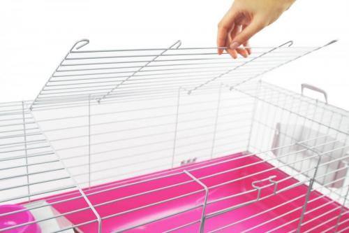 Cage ZOLIA Pinky 3 100cm édition Fuchsia toute équipée pour Lapin_2