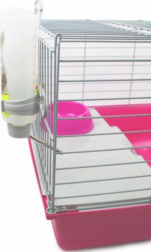 Cage ZOLIA Pinky 3 100cm édition Fuchsia toute équipée pour Lapin