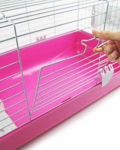 Cage ZOLIA Pinky 3 100cm édition Fuchsia toute équipée pour Lapin_3