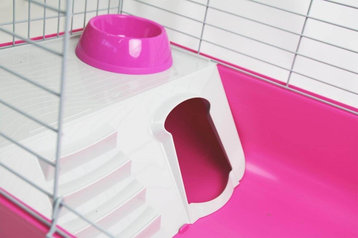 Cage ZOLIA Pinky 3 100cm édition Fuchsia toute équipée pour Lapin_5