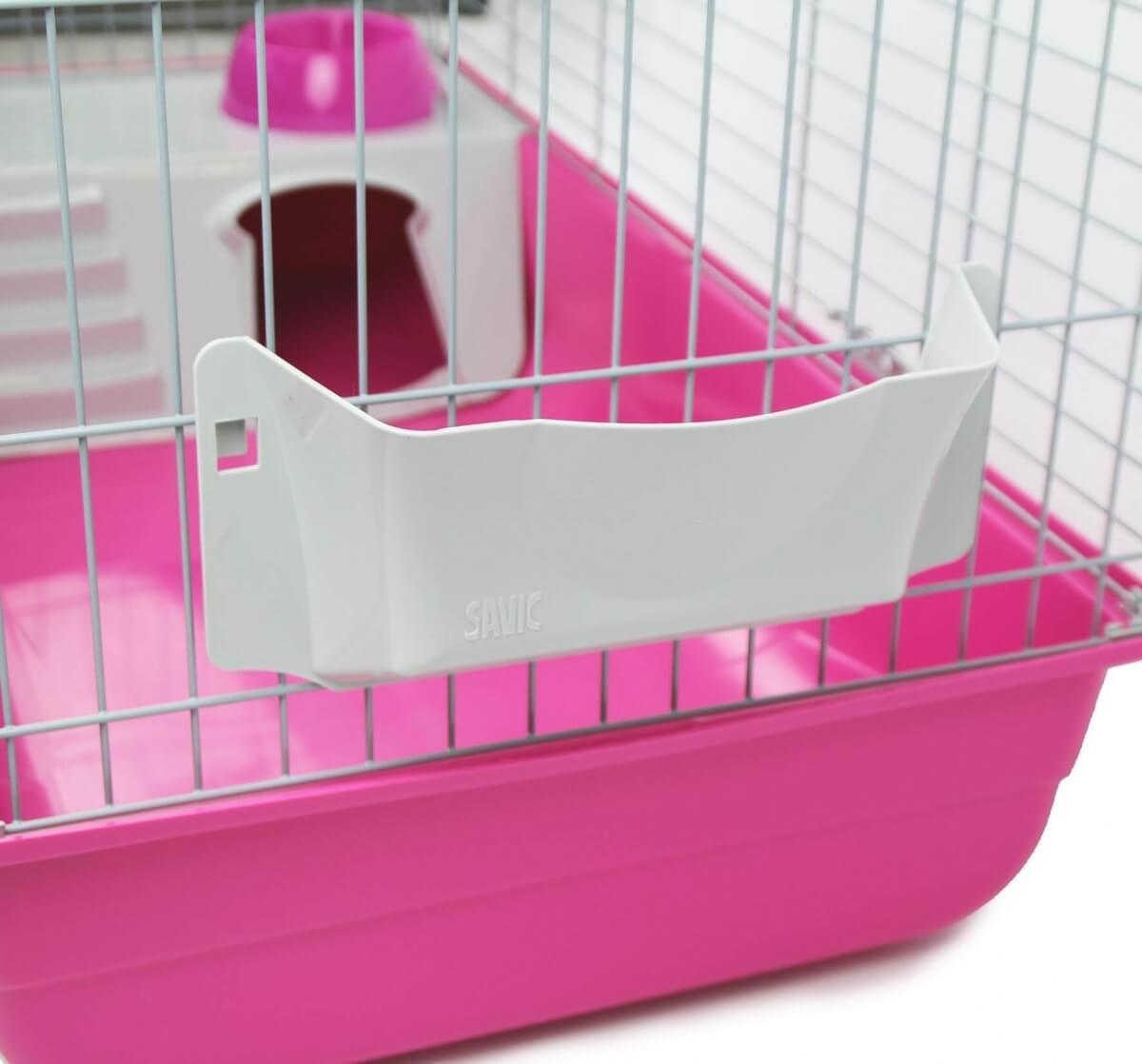 Cage ZOLIA Pinky 3 100cm édition Fuchsia toute équipée pour Lapin_4