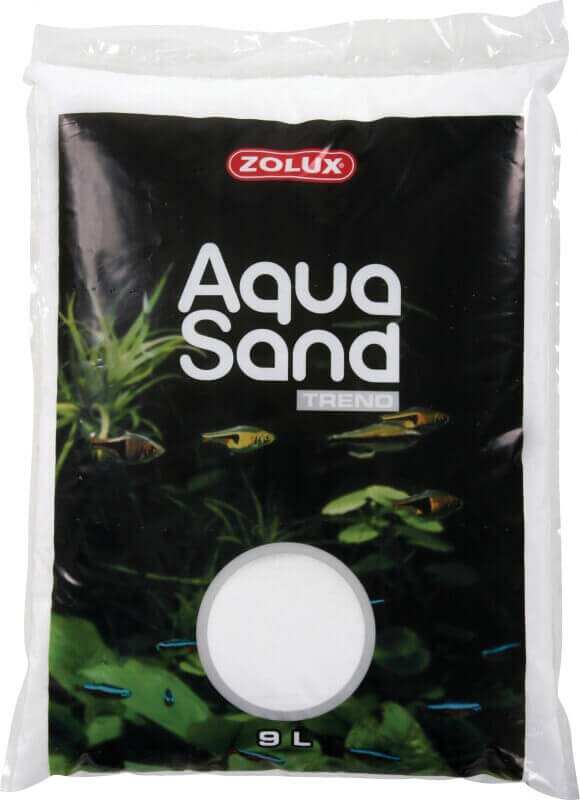 Aquasand iceberg white aquarium sand and gravel for Sable pour aquarium