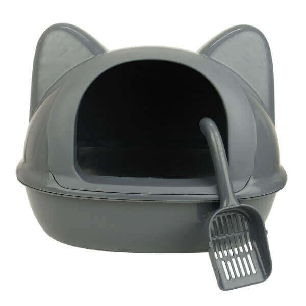 bac à litière et maison de toilette pour chat