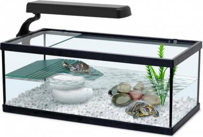 Aquarium Tortum ohne Filter, in schwarz