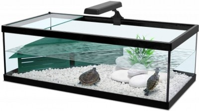 Aquarium Tortum mit Filter in schwarz