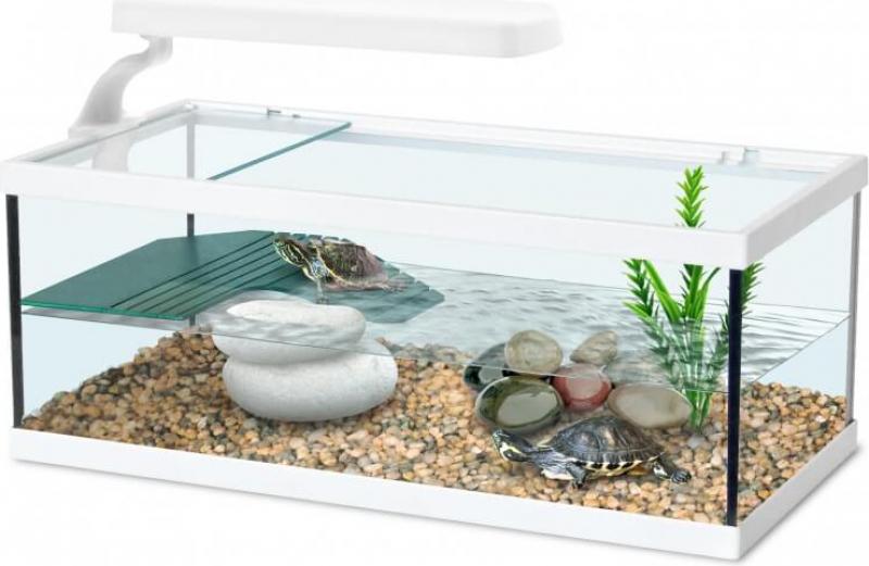 Aquarium Tortum sans filtre blanc