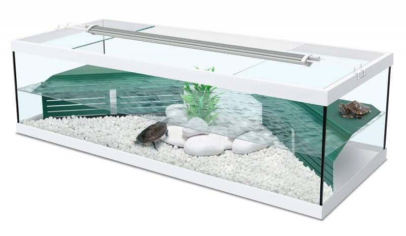 Aquarium Tortum avec filtre blanc_0