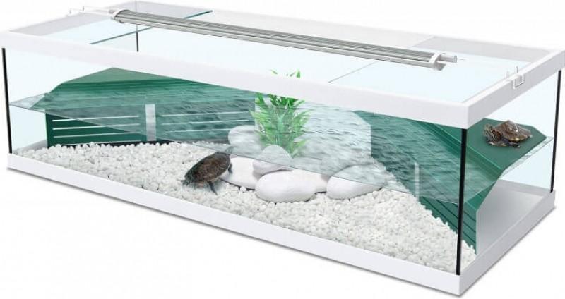 Aquarium Tortum mit Filter in weiß