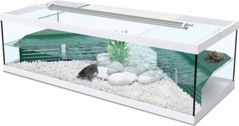 Aquarium blanc avec filtre Aquatlantis Tortum