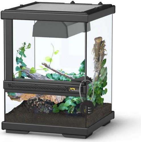 Terrarium terratlantis smart line noir terrarium et meuble - Terrarium meuble ...