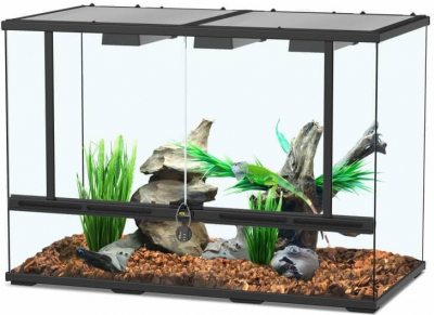 Terrarium Terratlantis smart line in schwarz