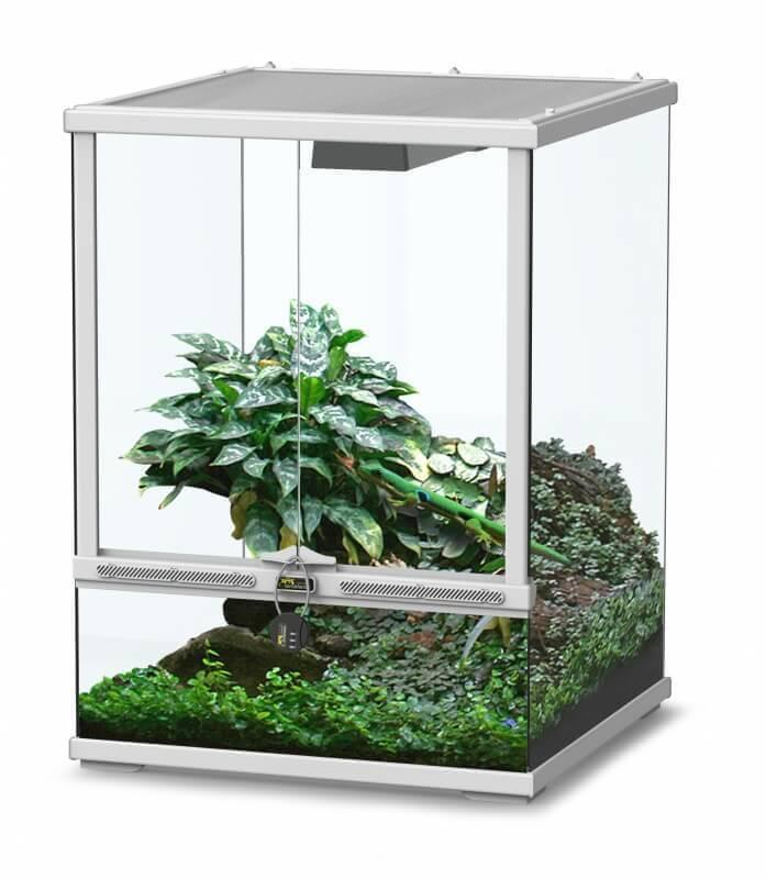 Terrarium terratlantis smart line blanc terrarium et meuble - Terrarium meuble ...