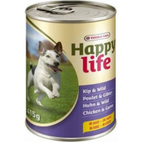 Happy life kip wild - Bouchées au poulet et gibier en sauce - Boites de 415g