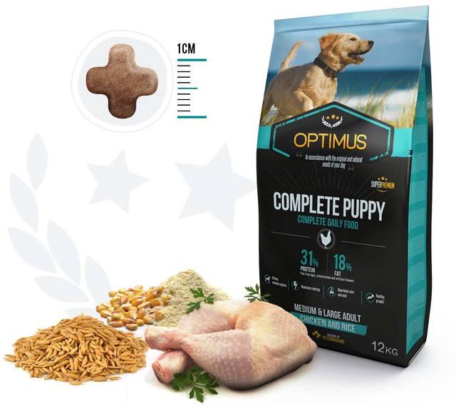 Croquettes optimus complete puppy