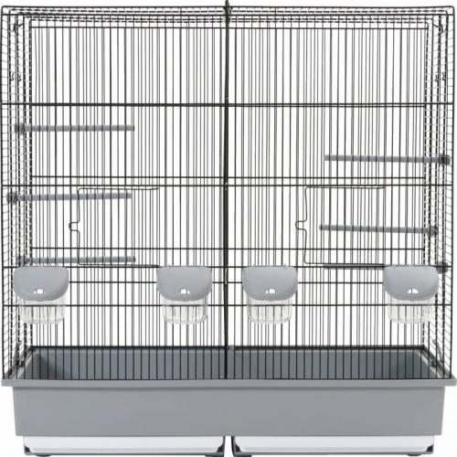 Cage d'élevage Family 10 noir / gris 70x40x70 cm