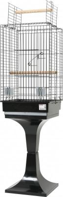 Cage Karaoke grise noir avec pied
