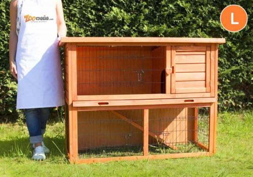 Clapier lapin et rongeurs ZOLIA Belino avec cour extérieure et tiroir_6