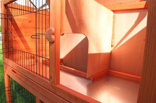 Clapier lapin et rongeurs ZOLIA Belino avec cour extérieure et tiroir_2