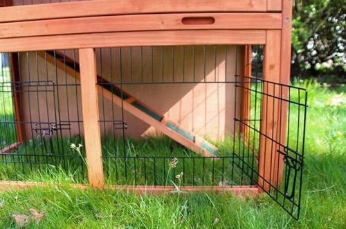 Clapier lapin et rongeurs ZOLIA Belino avec cour extérieure et tiroir_3