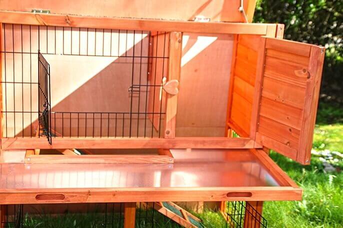 Clapier lapin et rongeurs ZOLIA Belino avec cour extérieure et tiroir_1