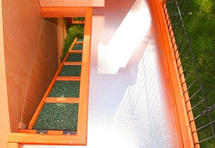 Clapier lapin et rongeurs ZOLIA Belino avec cour extérieure et tiroir_4